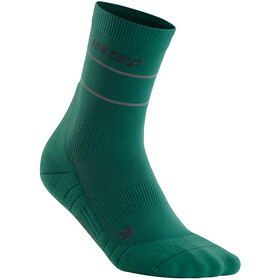 cep Reflective Mid Cut Socks Women, green